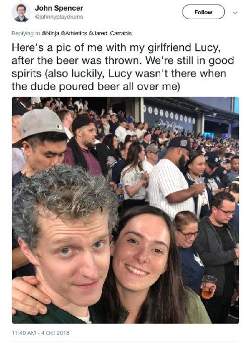 oakland as fan has the best response after full beer was thrown at him x photos 6 Oakland As fan has the best response after full beer was thrown at him (13 Photos)