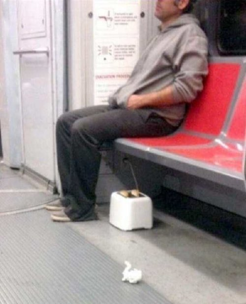 crazy people riding subway bizarre 2 Subways are not where normal happens (38 Photos)