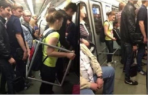 crazy people riding subway bizarre 3 Subways are not where normal happens (38 Photos)