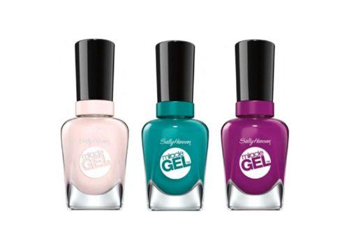 Лаки для ногтей Miracle Gel, 143 Pink Jellyfish, 141 Tropic Relief, 153 Sorbet Array,Sally Hansen