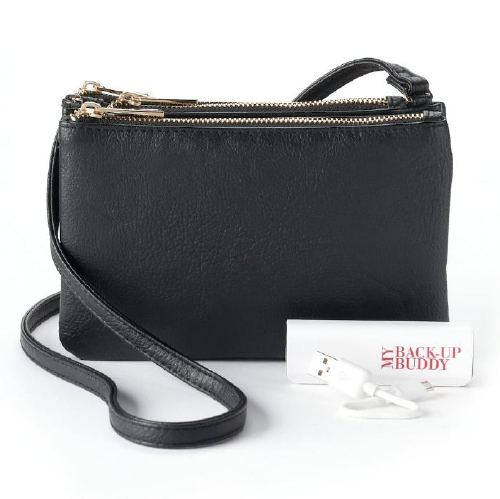 Apt. 9® Protect & Connect RFID-Blocking Phone Charging Crossbody Bag