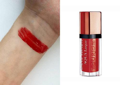 Жидкая губная помада Rouge Addition Aqua Laque, Red, Bourjois
