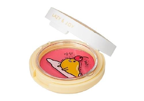 Гелевые румяна Lazy & Joy Jelly Dough Blusher, оттенок RD01 Cherry Jelly,Holika Holika x Gudetama
