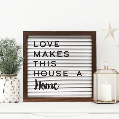 New View Rustic Letter Board Wall Decor