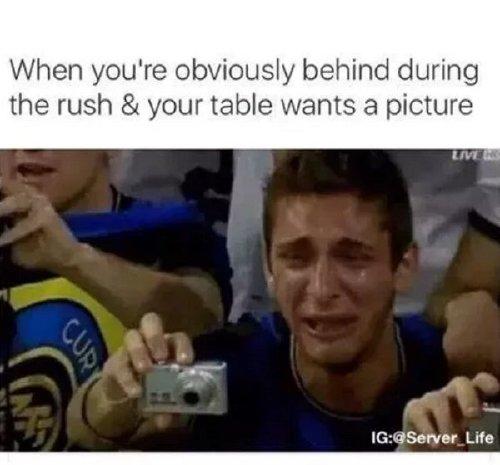 A hot plate of restaurant memes you better not send back