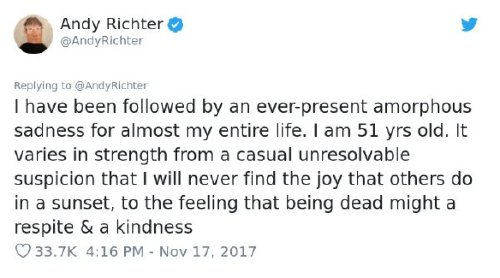 2680538 5 Andy Richter brilliantly shuts down woman who says depression is a choice