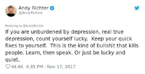 2680538 9 Andy Richter brilliantly shuts down woman who says depression is a choice