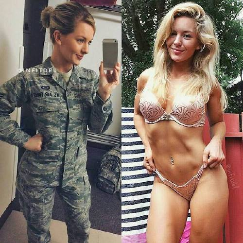 she can do both 22157527 258030378052910 9194262749977247744 n Beautiful badasses in (and out of) uniform (45 Photos)