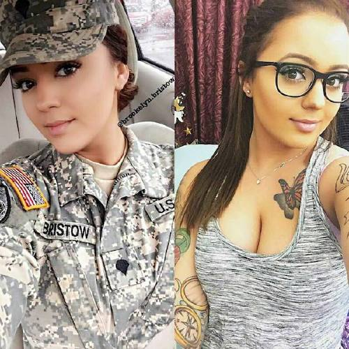 she can do both 10005458 1677613442263070 7489414080701136896 n Beautiful badasses in (and out of) uniform (45 Photos)