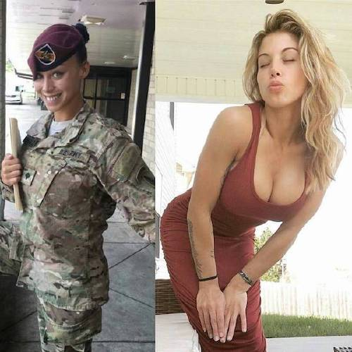 she can do both 22158074 130958387649705 5387437724326166528 n Beautiful badasses in (and out of) uniform (45 Photos)