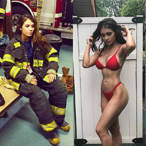 she can do both 22802639 125843238123655 7985483267245604864 n Beautiful badasses in (and out of) uniform (45 Photos)