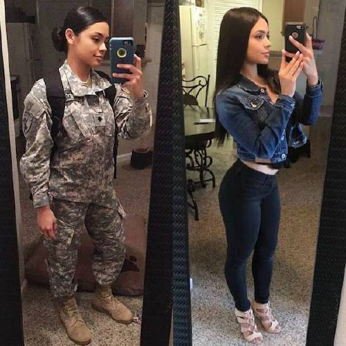 she can do both 26156487 2017897848488612 7860802527011274752 n Beautiful badasses in (and out of) uniform (45 Photos)