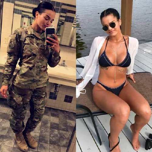 she can do both 35000992 541820382886275 4726680525077479424 n Beautiful badasses in (and out of) uniform (45 Photos)