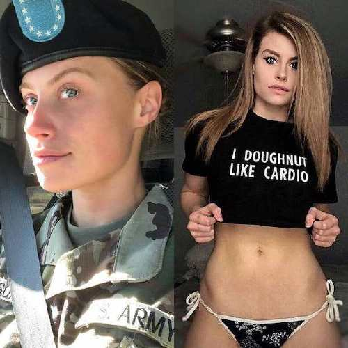 she can do both 43105611 343546506451066 3027009885939731448 n Beautiful badasses in (and out of) uniform (45 Photos)