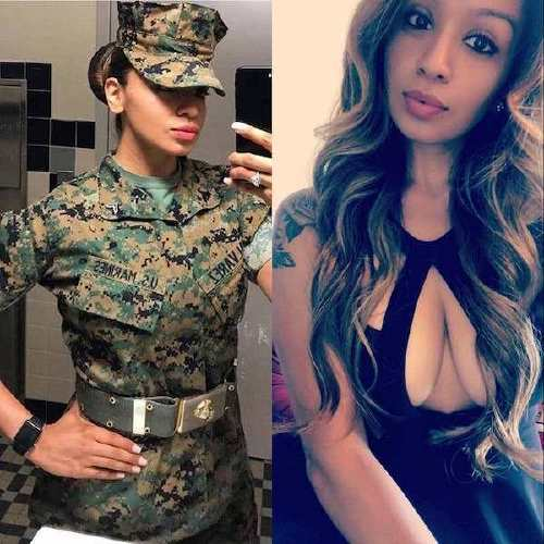 she can do both 43778343 1216640485162863 1820870723043716882 n Beautiful badasses in (and out of) uniform (45 Photos)