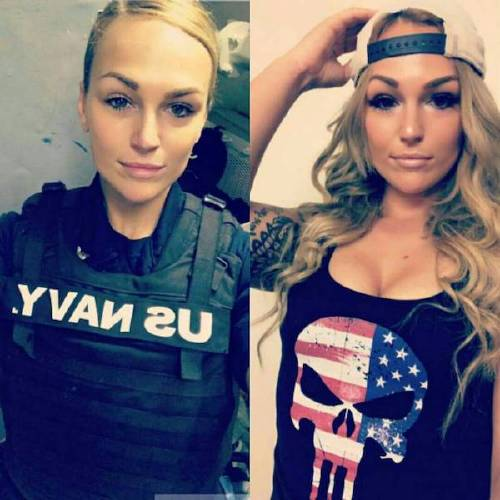 she can do both 22069556 136521990301989 6936301367619223552 n Beautiful badasses in (and out of) uniform (45 Photos)