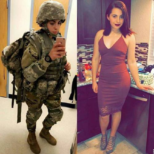 she can do both 22069802 1927898350803346 2006081371721695232 n Beautiful badasses in (and out of) uniform (45 Photos)