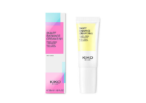 Увлажняющий крем, праймер и иллюминайзер Smart Radiance Cream, 03 Glowing Rose, Kiko Milano