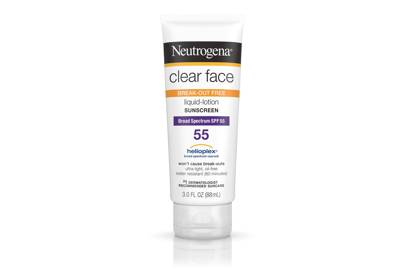The product: Neutrogena Clear Face Liquid Lotion Sunscreen, £12.49