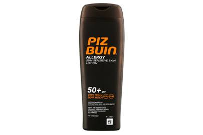 The product: Allergy Lotion SPF50+, £7, Piz Buin