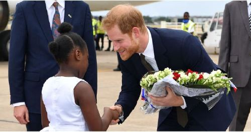 Prince Harry Has a Sweet Encounter With an Adorable Little Girl Upon Arriving in Zambia
