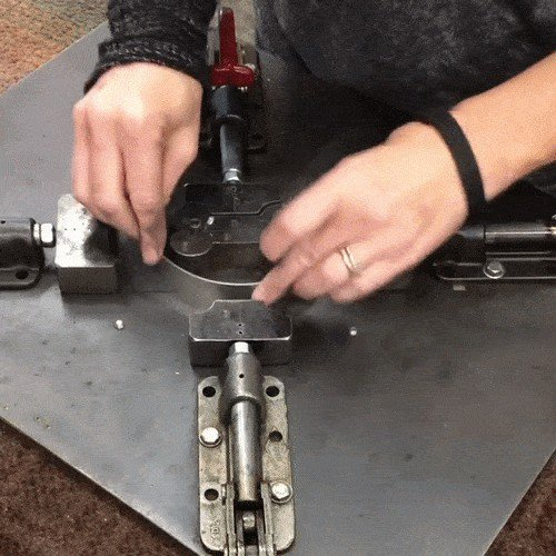 the soothing and satisfying way that cookie cutters are made x gifs 147 The soothing and satisfying way that cookie cutters are made (16 GIFs)