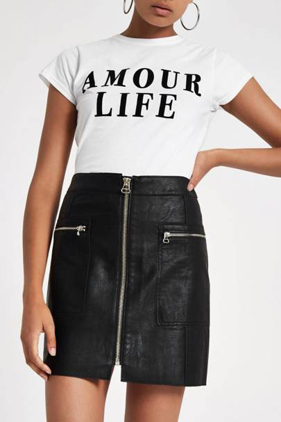 This £30 faux leather skirt from River Island is all over Instagram right now