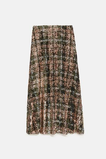 This sequin skirt is already Zara's number 1 Christmas party buy