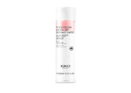 Двухфазная мицеллярная вода для очищения лица, контура глаз и губ Pure Clean Micellar Biphase Water, Kiko