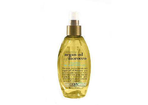 Light dry argan oil spray for hair restoration