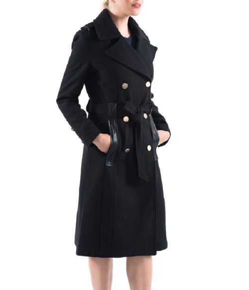 Alpine Swiss Women's Wool Blend Double Breasted Belted Trench Coat (Photo: eBay)