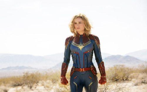 CAPTAIN MARVEL, Brie Larson as Captain Marvel, 2019. ph: Chuck Zlotnick/ Walt Disney Studios Motion Pictures / Marvel Studios / courtesy Everett Collection