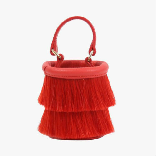 Neely & Chloe Micro Horse Hair Bucket Bag