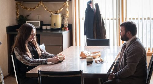 With Lily Collins For Intense Ted Bundy Scenes