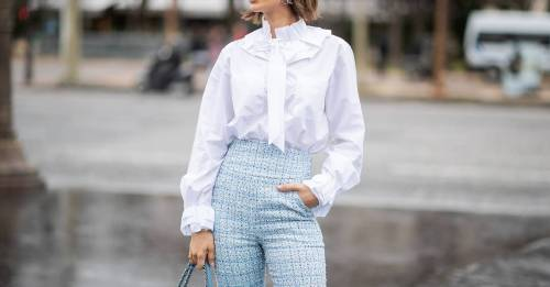 Wearing your shirt with a 'French tuck' is so major right now