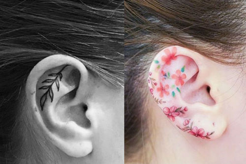 Tiny Ear Tattoos Are Trending And They're So Tempting