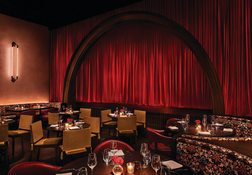 Cabaret, located within the Barcelona Edition, performances during an exquisite six-course chef's tasting menu.