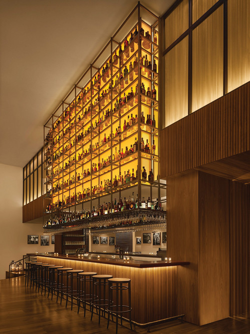 The bar at the Barcelona Edition gives new meaning to top-shelf liquor.