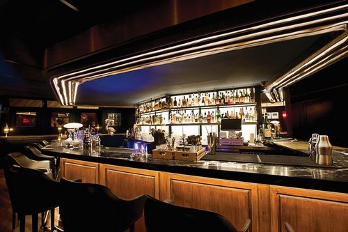 The bar within El Cinco restaurant, led by chef Josep Armenteros.