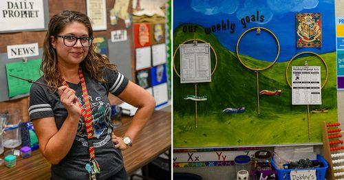 A Third-Grade Teacher Transformed Her Classroom Into a Harry Potter Wonderland