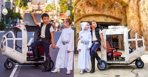 OMG, This Company Is Offering a Millennium Falcon-Esque Stroller Rental