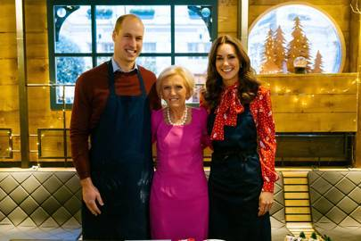 Mary Berry teaches Prince William and Kate Middleton how to cook a Christmas feast