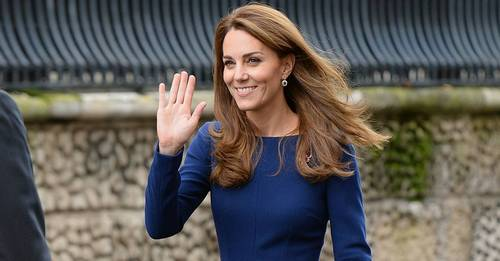 Kate Middleton wearing the Pantone Colour of the Year