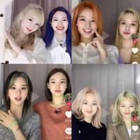 Every single member of K-pop band, TWICE, revealed a new hair colour on TikTok
