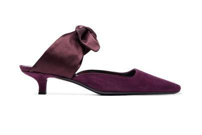 Suede and Satin Mules, £725, The Row