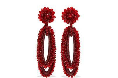 Beaded Earrings, £265, Bibi Marini