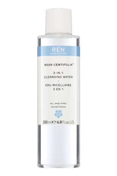 Rosa Centifolia 3-in-1 Cleansing Water, £17, REN