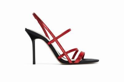 Metallic Strappy Sandals, £29.99, Zara