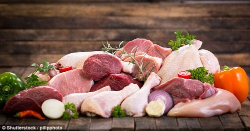 Foods like red meat, fish, eggs, and full-fat dairy contain animal-based fats (stock)