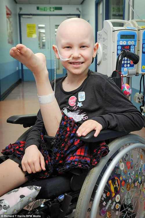 Amelia willbe able to put weight on her leg and have a prosthesis fitted in around three months' time, andparishioners at Kingsbury Methodist Church hope to raise around £30,000 to ensure that she can have specially-made blades